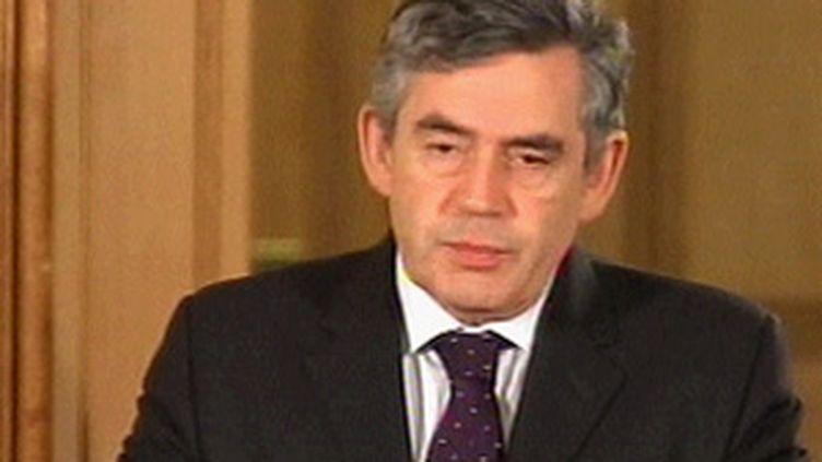 Gordon Brown, le premier ministre britannique et chef de file des travaillistes (© France 3)