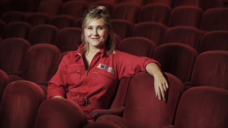 """La comédienne et humoriste Bérengère Krief, à l'affiche de son dernier spectacle """"Amour"""". (ARNAUD DUMONTIER / MAXPPP)"""