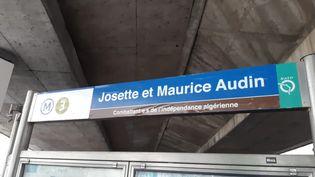 La famille Audin a demandé il y a plus d'un an à la RATP de débaptiser la station Gallieni pour lui donner le nom des époux Audin, sans réponse pour le moment. (HAJERA MOHAMMAD / FRANCE-BLEU PARIS)