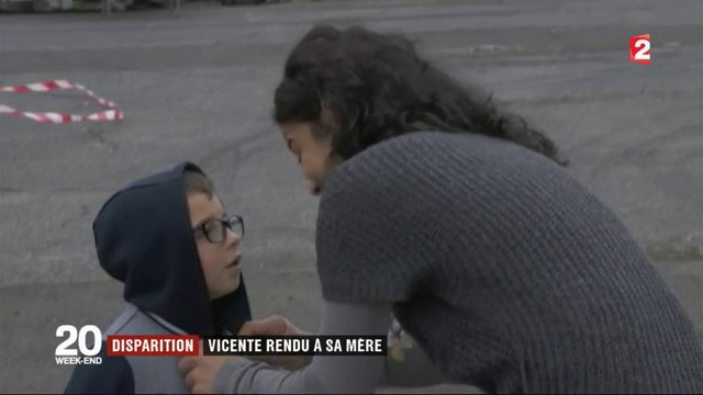 Disparition : le petit Vicente rendu à sa mère
