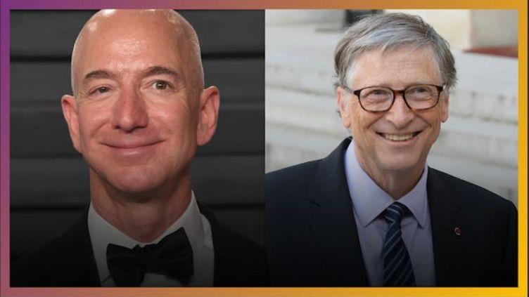 Jeff Bezos, PDG d'Amazon, et Bill Gates, fondateur de Microsoft (FRANCE CULTURE / RADIO FRANCE)
