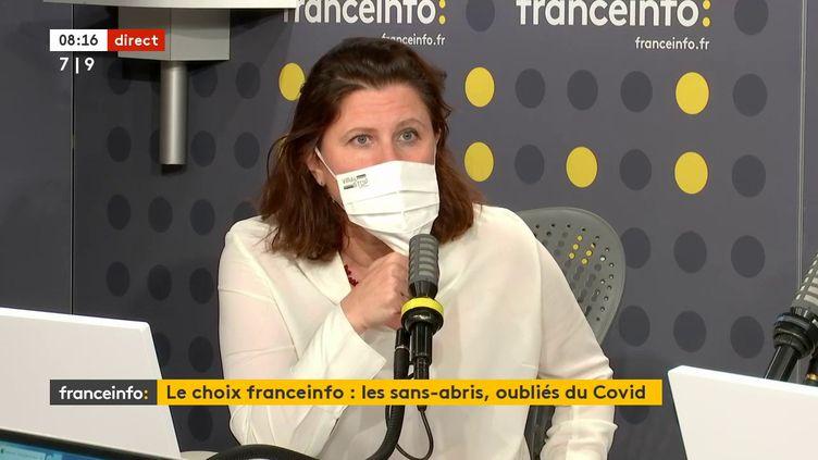 Roxana Maracineanu, ministre déléguée auprès du ministre de l'Education nationale, de la jeunesse et des sports, chargée des sports sur franceinfo le 9 décembre 2020. (FRANCEINFO / RADIOFRANCE)