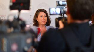 La ministre de la Santé Agnès Buzyn, lors d'une conférence de presse, au Sénat, à Paris, le 18 juillet 2019. (DANIEL PIER / NURPHOTO / AFP)