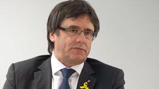 L'ancien président de la Catalogne, l'indépendantiste Carles Puigdemont, le 5 mai 2018 à Berlin (Allemagne). (CHRISTOPHE GATEAU / DPA / AFP)
