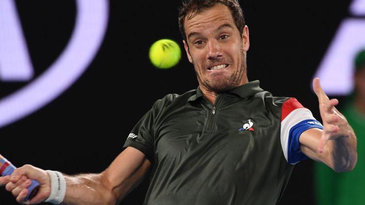 Richard Gasquet en difficulté à l'Open d'Australie (SAEED KHAN / AFP)