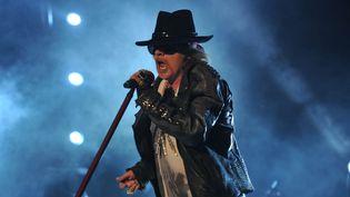 Axl Rose du groupe Guns N' Roses en concert à Bangalo, en 2012  (Manjunath Kiran / AFP)