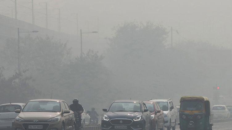 Un épisode de pollution à New Delhi (Inde) le 13 novembre 2017. (MAXPPP)