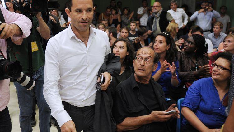 Benoît Hamon assiste à l'université d'été du Parti socialiste à La Rochelle (Charente-Maritime), le 29 août 2014. (XAVIER LEOTY / AFP)