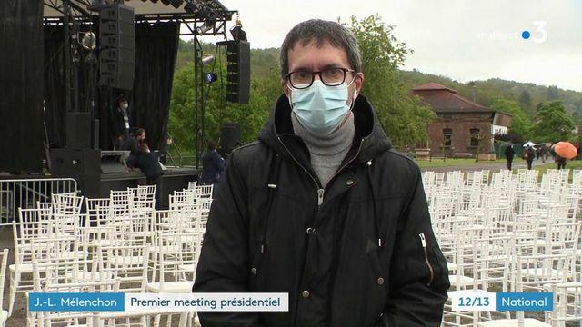 Elections présidentielles : premier meeting de Jean-Luc Mélenchon