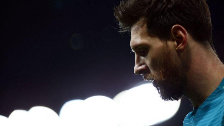 Le sextuple Ballon d'Or, Lionel Messi, au Parc des Princes le 14 février 2017. (MEHDI TAAMALLAH / NURPHOTO / AFP)
