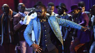 Maître Gims, le 12 février 2016, sur la scène des Victoires de la musique. (BERTRAND GUAY / AFP)