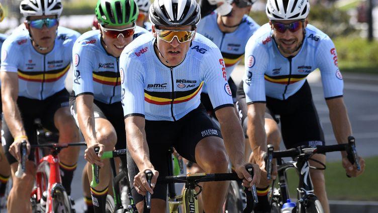 Greg Van Avermaet et Tom Boonen visent une course de mouvement (YORICK JANSENS / BELGA MAG)