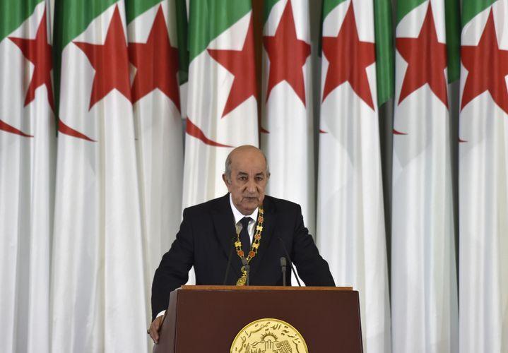 Algerian President & nbsp; Abdelmadjid Tebboune is sworn in on December 19, 2019 in Algiers. & Nbsp;  (RYAD KRAMDI / AFP)