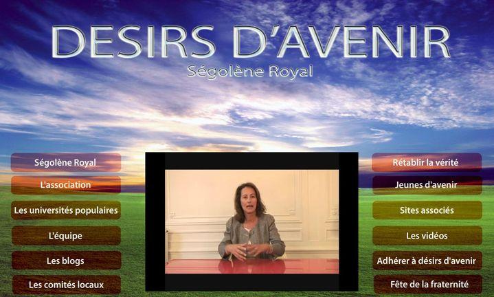 Capture d'écran de la version du site de Désirs d'avenir mise en ligne en septembre 2009. (DESIRS D'AVENIR)