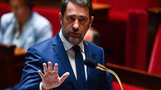 Le ministre de l'Intérieur, Christophe Castaner, à l'Assemblée nationale, le 26 mai 2020. (CHRISTOPHE ARCHAMBAULT / AFP)