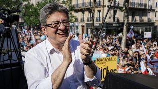 Jean-Luc Mélenchon, le 5 mai 2018 à Paris. (MARIE MAGNIN / HANS LUCAS / AFP)