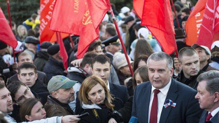 Simferopol, en Crimée, le 16 mars 2015. Sergei Aksyonov, dirigeant de la République de Crimée.  (Reuters - David Mdzinarishvili)