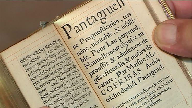 Exemplaire rarissime de l'édition originale du Gargantua de Rabelais (France 3 Centre-Val-de-Loire)