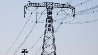 Image d'illustration d'un pylone électrique en banlieue de Pékin. (MAXPPP)