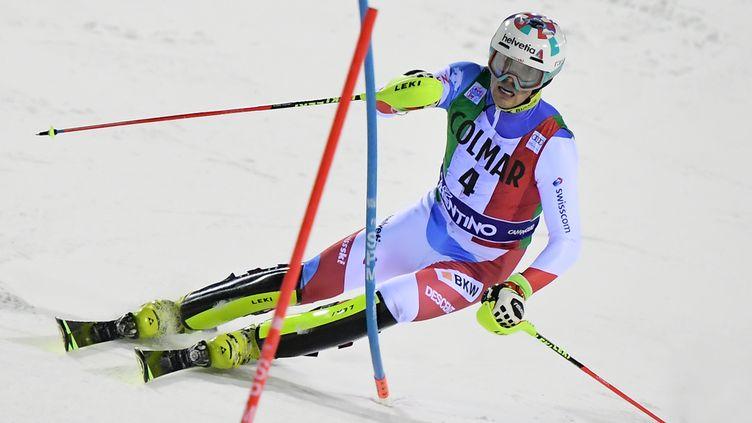 Daniel Yule a remporté le slalom de Madonna di Campiglio (MARCO BERTORELLO / AFP)