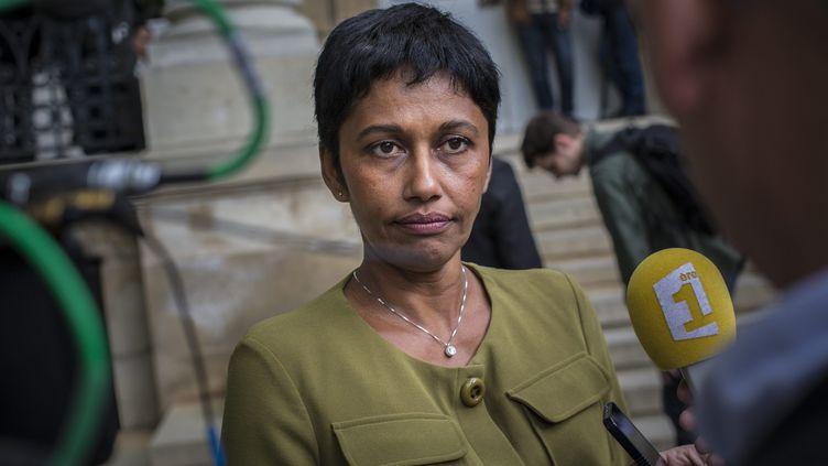 La députée PS de la Réunion, Ericka Bareigts, le 8 avril 2014 à l'Assemblée nationale. (MAXPPP)