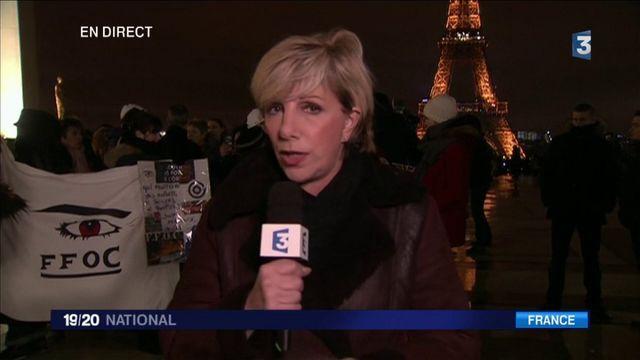 Les épouses des policiers rassemblées à Paris