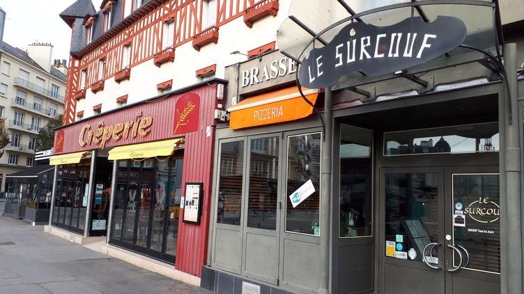 Des restaurants fermés lors dureconfinement, le 11 novembre 2020. (LOÏCK GUELLEC / FRANCE BLEU ARMORIQUE)