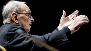 Le compositeur italien Ennio Morricone, le 21 janvier 2019 à Berlin (Allemagne). (CHRISTOPH SOEDER / DPA / AFP)