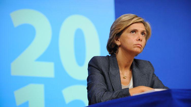 La ministre du Budget, Valérie Pécresse, lors d'une conférence de presse à Paris, le 28 septembre 2011. (WITT / SIPA)
