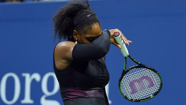 Serena Williams éprouvée (TIMOTHY A. CLARY / AFP)