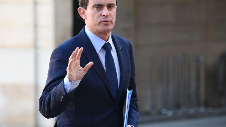 Le Premier ministre Manuel Valls, à Paris, le 11 janvier 2015. (DOMINIQUE FAGET / AFP)