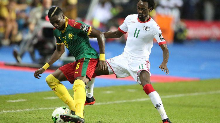 Jonathan Pitroïpa, ici face au Cameroun, est forfait pour le reste de la compétition (STEVE JORDAN / AFP)