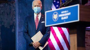 Le président élu des Etats-Unis, Joe Biden, lors d'un discours àWilmington (Delaware), le 16 novembre 2020. (ROBERTO SCHMIDT / AFP)