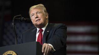 Le président des Etats-Unis, Donald Trump, lors d'un meeting dans le Missouri, le 5 novembre 2018. (JIM WATSON/AFP)