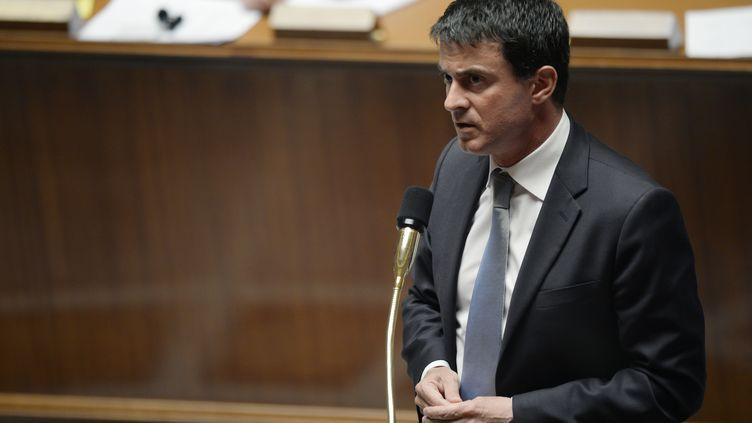 Le ministre de l'Intérieur, Manuel Valls, le 16 juillet à l'Assemblée nationale, à Paris. (MARTIN BUREAU / AFP)
