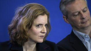 Nathalie Kosciusko-Morizet et Bruno Le Maire lors d'une réunion de l'UMP à Paris, le 17 janvier 2015. (LIONEL BONAVENTURE / AFP)