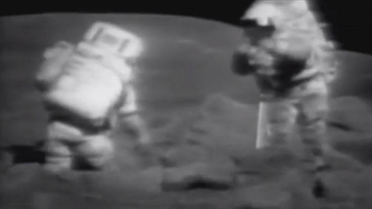 Depuis la mission Apollo de 1972, la Lune n'est plus une priorité. ( FRANCE 2 / FTVI)