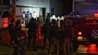 Soixante corps ont été découverts dans un crématorium abandonné à Acapulco (Mexique), le 6 février 2015. (STR / AFP)