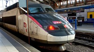 Un TGV, en gare de Lille. (Photo d'illustration) (SEBASTIEN JARRY / MAXPPP)