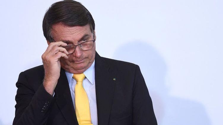 Le président brésilien Jair Bolsonaro, le 19 octobre 2020, à Brasilia. (EVARISTO SA / AFP)