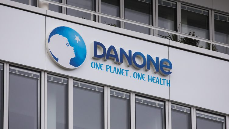 Le siège de Danone à Reuil-Malmaison, le 26 janvier 2021. (VINCENT ISORE / MAXPPP)