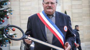Michel Fournier, maire des Voivres (Vosges), en janvier 2019. (LUDOVIC MARIN / AFP)