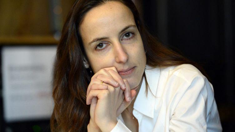 L'économiste Julia Cagé, le 5 avril 2016, à Paris. (BERTRAND GUAY / AFP)