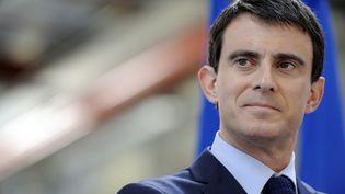 Le Premier ministre Manuel Valls à Ergué-Gabéric (Finistère), le 16 janvier 2015. (FRED TANNEAU / AFP)