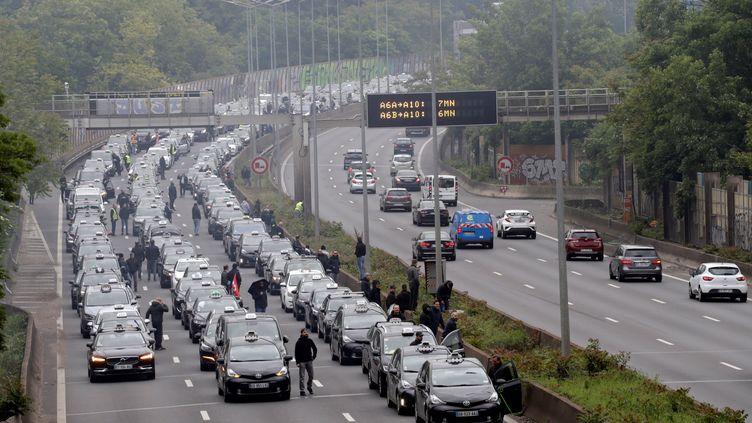L'A6 en direction de la porte d'Orléans, au sud de Paris, le 20 mai 2019. (THOMAS SAMSON / AFP)