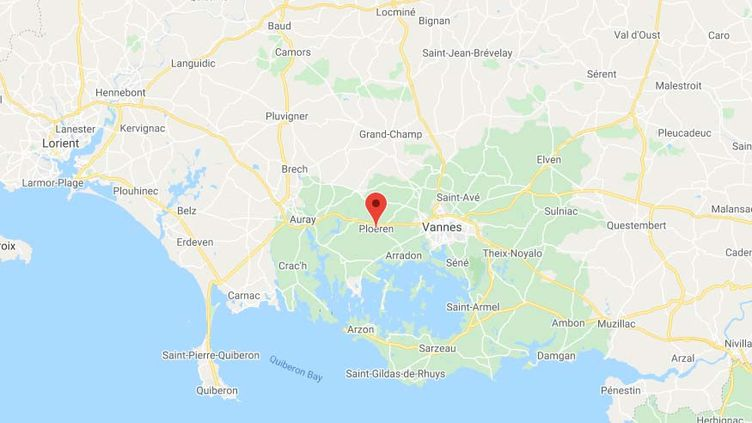 Ploeren (Morbihan).  (CAPTURE D'ECRAN GOOGLE MAPS)
