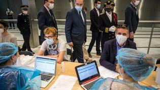 Un centre de dépistage à l'aroport Roissy-Charles de Gaulle, le 24 juillet 2020. (CHRISTOPHE PETIT TESSON / POOL)