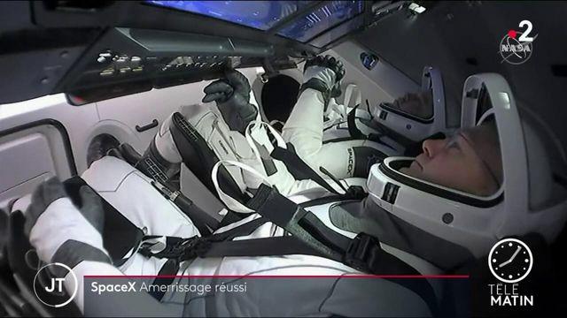 La capsule Crew Dragon de SpaceX a réussi son amerrissage