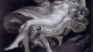Noël Coypel, Femme projetée en arrière (La Fraude), XVIIe siècle.Pierre noire, lavis brun rehauts, 39,2x43,1 cm, Collection Prat. (Studio Sebert)