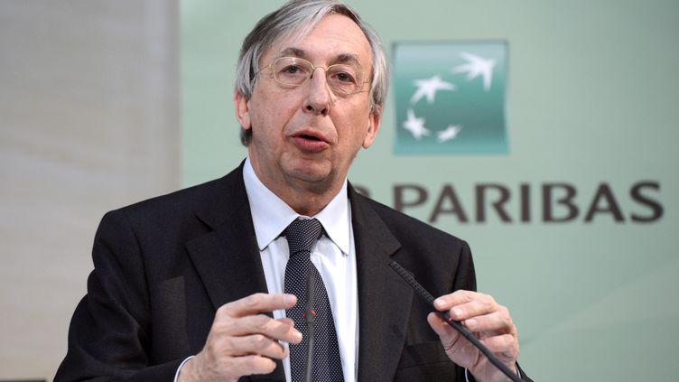 Georges Chodron de Courcel, directeur général délégué de BNP Paribas, lors d'une conférence de presse à Paris, le 14 février 2013. (BERTRAND GUAY / AFP)